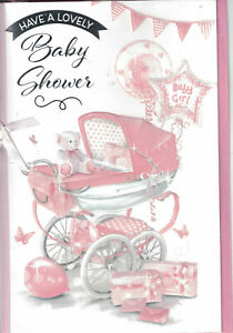 Baby Shower Card Girl Choice of Designs For the New Mum to Be / Mummy / Mommy