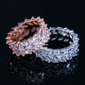 Stunning Marquise Cut Crystal Ring - 3 Sizes - New in Gift Box