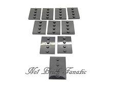Lego Black Minifigure / Figure Baseplate Base Stand x 10