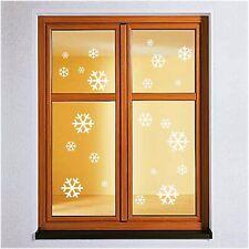 22x Schneeflocke Wandtattoo Winter Weihnachten Fensteraufkleber Fenstertattoo