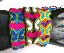 Butterfly Design Woven Cotton Friendship Bracelets Wholesale Lot of 3 Bands