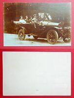 Foto AK um 1925 offenes Automobil mit Fahrgästen und Kennung IV 2027   ( 27454