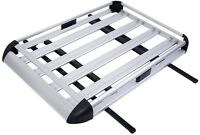 Aluminum Car Roof Cargo Carrier Luggage Basket Rack Top w/ Crossbars 50 x 38 in