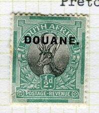 SOUTH AFRICA;   Early Pictorial issue DOUANE Optd.( Blk ) Unused 1/2d.