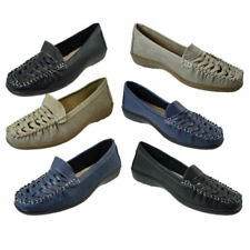 Patternless Loafers Women's Synthetic Leather
