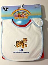 Museum Of The Bible Blue Little Tiger Baby Bib ~ So Cute!