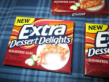 Extra Dessert Delights APPLE PIE Chewing Gum (12 Sealed Collector Packs)