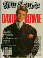New Sounds Magazine March 1985 David Bowie Prince Duran Bruce Springsteen Idol