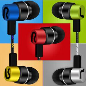 3.5mm In-Ear Earphones Earbuds Stereo Headphone Headset Bass Braided Sport Line