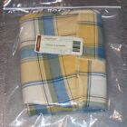 Longaberger Cornflower Plaid OVAL LAUNDRY Basket Liner ~Made in USA~ New in Bag!
