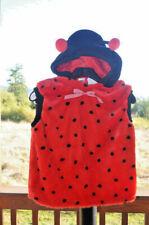 Child Girl's Lady Bug Red Black Dress Up Costume Size Large