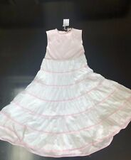 NWT Chateau de Sable Girls Pink White Summer Dress 10A