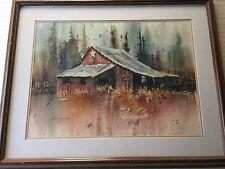 "Lex Munson Original Watercolor Landscape, Signed, Framed, 29"" x 21"" (Image)"