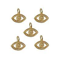 New Arrival! Pave Diamond Evil Eye Charm Pendant, 925 Silver Jewelry, PN-2368