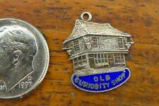 Vintage silver OLD CURIOSITY SHOP CHARLES DICKENS LONDON ENGLAND SOUVENIR charm