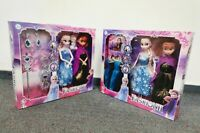 2PCS DISNEY FROZEN 2 frozen doll Playset Elsa&Anna New Figures with Jewellery or