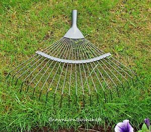 REPLACEMENT 22 TOOTH LAWN RAKE HEAD GARDEN CARBON STEEL GRASS LEAVES LEAF LAWN
