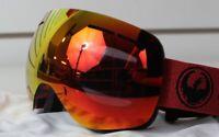 New 2018 Dragon X1s Ski Snowboard Goggles Mill - Red Ion Lumalens + Bonus