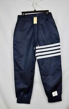 MSRP: $1325 NWT New Thom Browne Navy Relaxed Fit Track Joggers Mens Size 1 Small