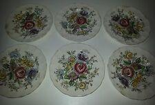 "Set of 6 Vintage Johnson Brothers ""Sheraton"" Bread Plates"