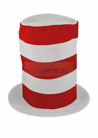 Childs Tall Red & White Hat - Costume Accessory Fancy Dress Book Day Cat In The