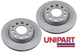 For Audi - A4 (B6 B7) 1.8 2.5 2000-2008 Rear 255mm Brake Discs Unipart