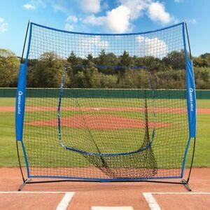 FORTRESS Baseball Cricket 7' x 7' Sock Net Screen | Power Hitting Backstop Net