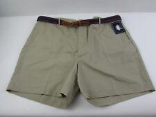Mens size 42 Knightsbridge khaki shorts with Belt flat front