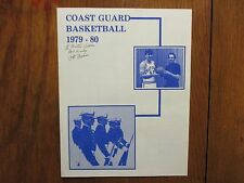 1979 U S Coast Guard Mens Basketball Program(10 Signed/OTTO GRAHAM/PETE  BROACA)