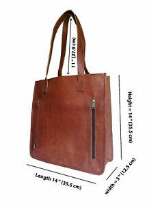 New Men's Genuine Vintage Leather Messenger Laptop Briefcase Satchel Bag Brown