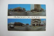 139) MUSKOGEE OKLAHOMA DOWNTOWN BUILDINGS BANK HOTEL BUSINESS OFFICE & OLD CARS