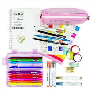 Bullet Journal Essential Kit for Beginners - Spiral Dotted Notebook, Brush Pen