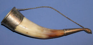 VINTAGE WALL DECOR COW HORN WITH METAL FACING
