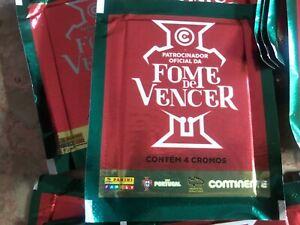 PANINI FUTEBOL PORTUGAL 2018 .   40 packs sealed (160 stickers) .FOME DE VENCER.