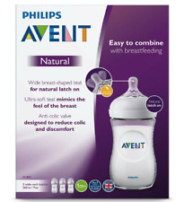 Philips Avent Natural Baby Feeding Bottle 260ml, 3-Pack, Soft Slow-Flow Teat 1m+