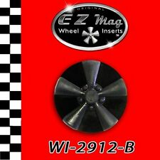 WI-2912-B Black Classic Spoke EZ Mag Wheel Inserts fits H & R Slot Cars, Models