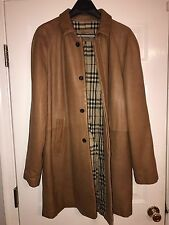 Rare!! Burberry Prorsum Heavy Leather Coat Jacket Size XXL 54EU Tan/Cognac $2350