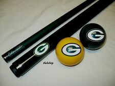 NFL Green Bay PACKERS Billiard Pool Cue Stick & Team Logo Cue Ball Combo ~ NEW !