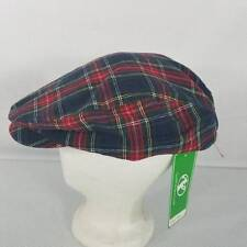 Golfknickers Navy Stewart Ramie Plaid Par 5 Ladies Golf Cap Hat