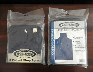 TWO 3-Pocket Canvas Shop Work Craft Aprons; McGuire Nicholas Rooster #30 - NEW!