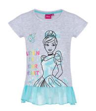 T-shirts et débardeurs gris Disney à longueur de manches manches courtes pour fille de 2 à 16 ans