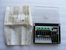 Vintage 1986 Bulgarian Rapidograph Set of 8 Technical Drawing Pens