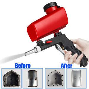 Sandblasting Gun Sand Blaster Machine Gravity Small Handheld Pneumatic Gun Set