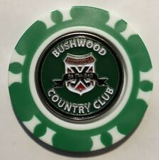 Caddyshack Bushwood CC Golf Poker Chip removable Ball Marker