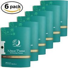 Oil Absorbing Facial Blotting Sheets For Oily Skin PleasingCare 100 Count 6pack