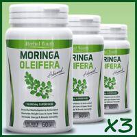 3 x Moringa Oleifera LEAF EXTRACT Capsules 10,000mg SUPERFOOD Anti Ageing Pill