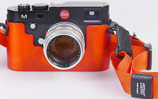 Handmade in Germany Holz Half Case Protektor f. Leica M (Typ 240 262) orange