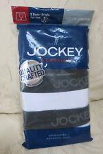 3 Jockey Classics Boxer Briefs, Cotton Stretch, Small (28-30) Full Rise, White