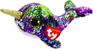 NEW Beanie Boo Regular Sequin - Calypso Narwhal from Mr Toys