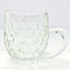 Vintage Retro Val St Lambert Half Pint Pot Dimple Glass Tankard